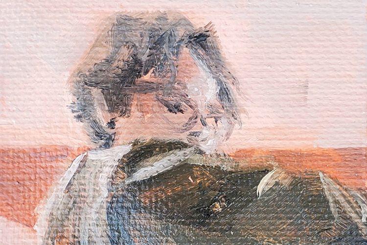 Kailey Barrows self portrait detail