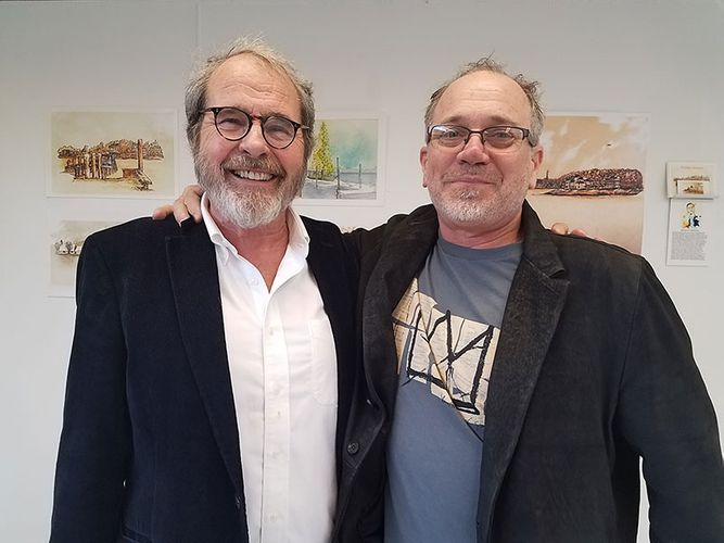 James and Jean-Francois at exhibition opening