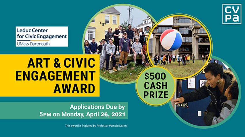 For 2021, one student awardee will receive $500 for an art project developed as part of their coursework during the academic year