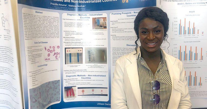 Priscilla Amuma '19 - Undergraduate Research - Biology