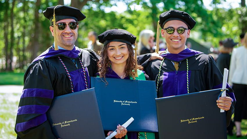 Members of the Class of 2021 at Commencement Ceremony
